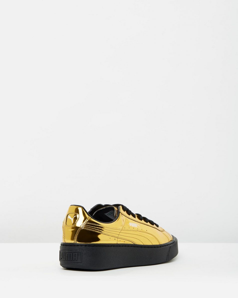 Puma Basket Platform Metallic Gold 2