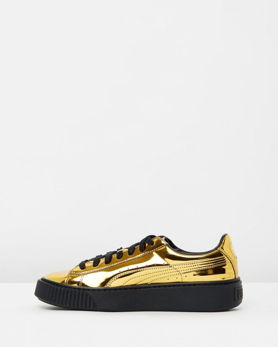 Puma Basket Platform Metallic Gold 3