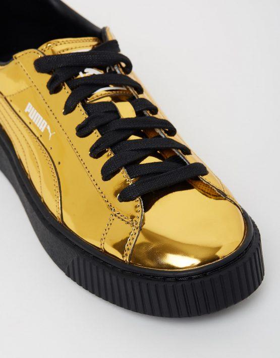 Puma Basket Platform Metallic Gold 4