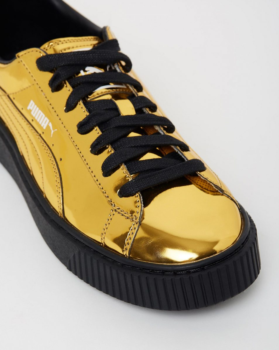 Puma Basket Platform Metallic Gold 4