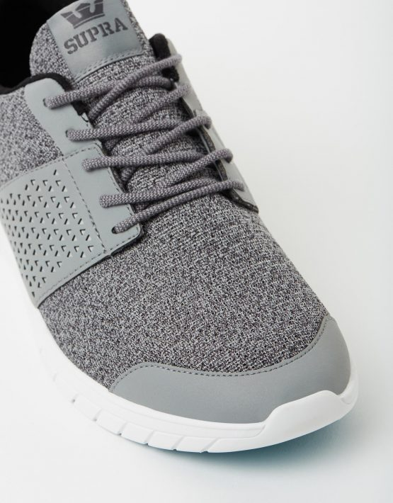 Supra Mens Scissor Grey Charcoal Aqua 4