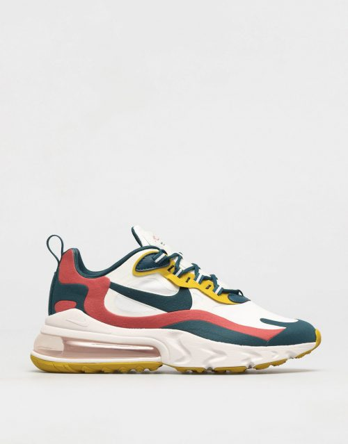 Nike Air Max 270 React Sneaker Summit White-Midnight Turq-Pueblo Red 1
