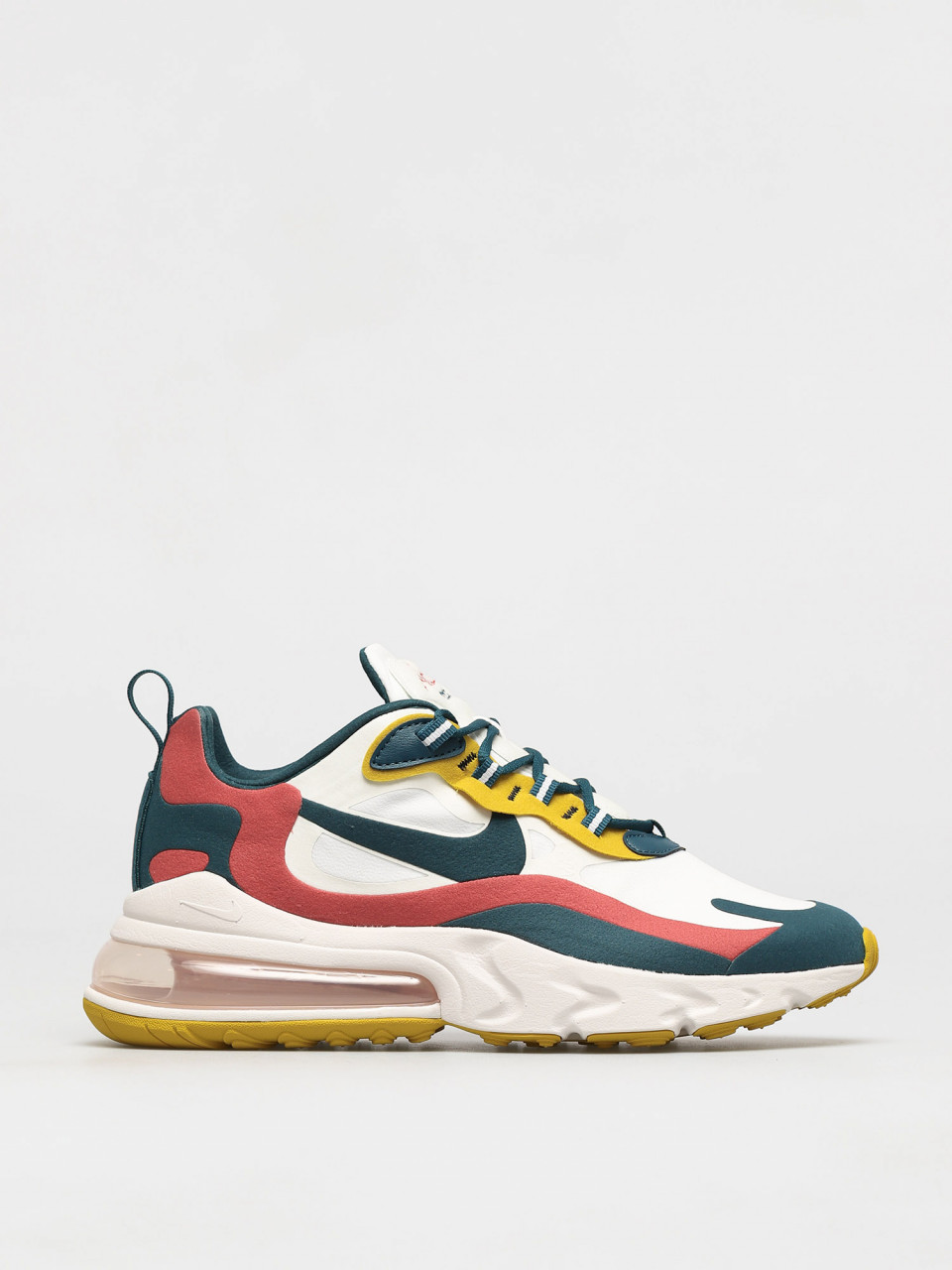 Nike Air Max 270 React Sneaker Summit White/Midnight Turq/Pueblo Red
